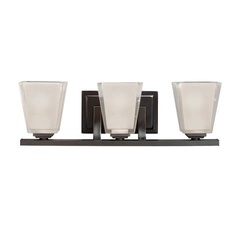 Modern Bathroom Lighting Lowes Shop Kichler Lighting 3 Light Olde Bronze Modern