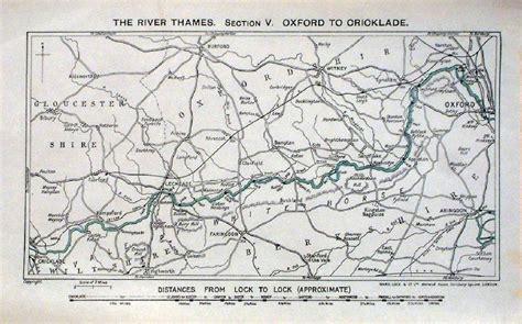 river thames map distances antique river canal maps of uk general