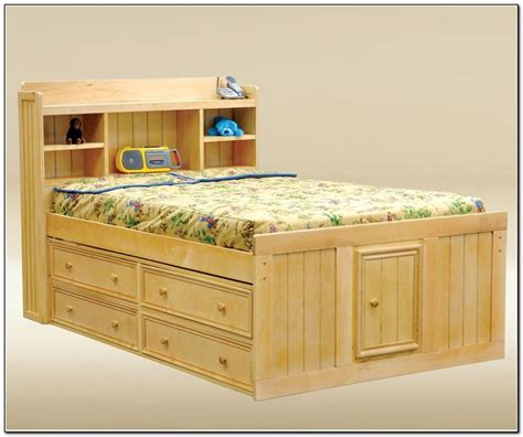 Full Size Captains Bed With 6 Drawers Woodworking Captains Bed With 6 Drawers