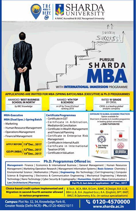 Sharda Mba Admission 2017 by Sharda Pursue Sharda Mba Ad Advert Gallery