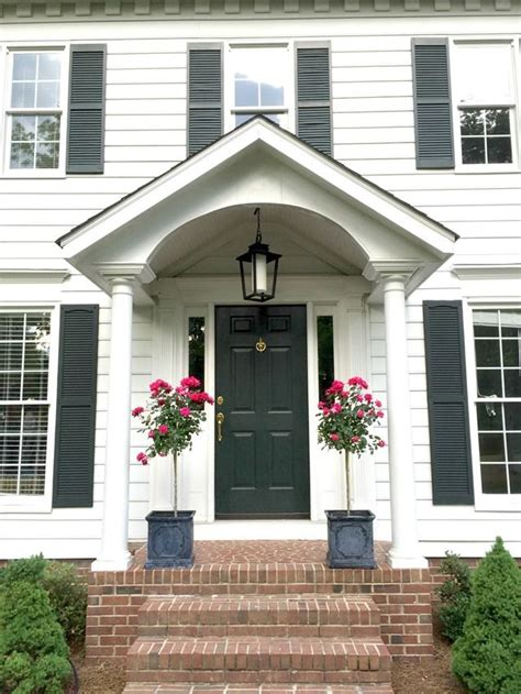 front door styling  accessory ideas colonial house