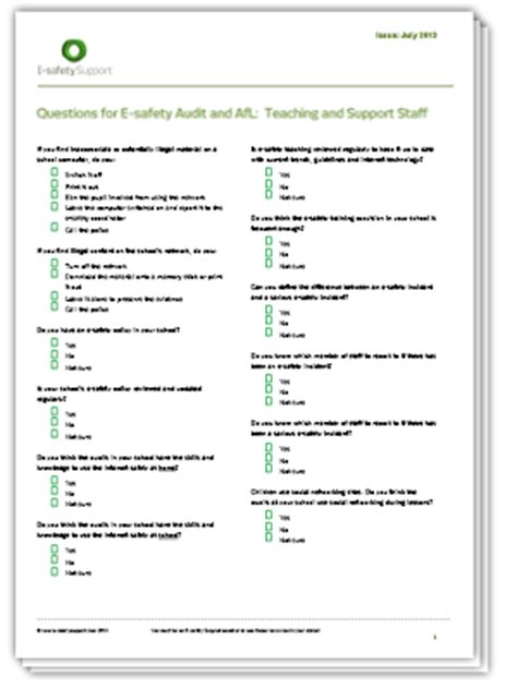 safety survey template e safety support school resources premium free and