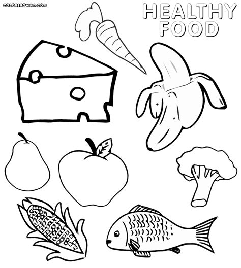 food coloring pages healthy food coloring pages coloring pages to