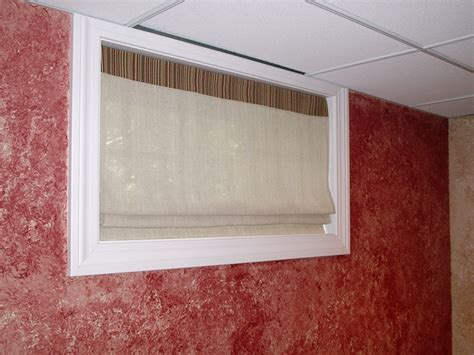 sheer shades for basement windows
