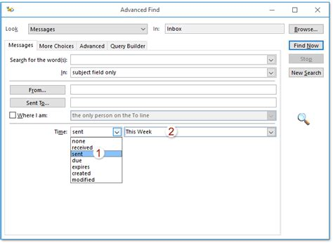 Search Email By Date How To Search Emails By Sent Deleted Received Date And Time In Outlook