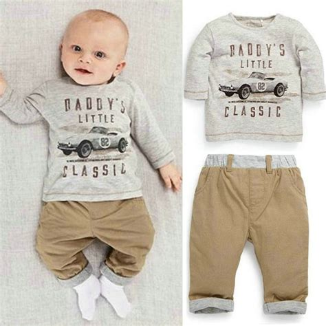4 Month Baby Boy Clothes by 2pcs Kid Children Baby Boy Sleeve Top Set
