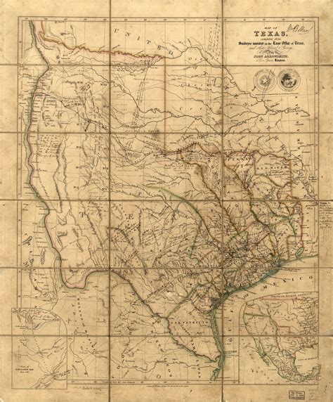 republic of texas map 1836 fantastic family findings