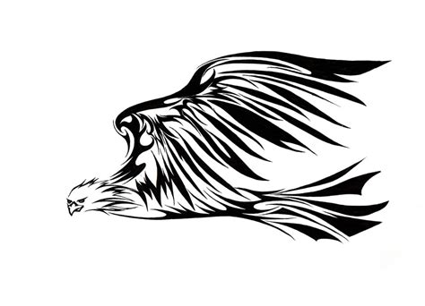 16 awesome tribal eagle tattoo only tribal