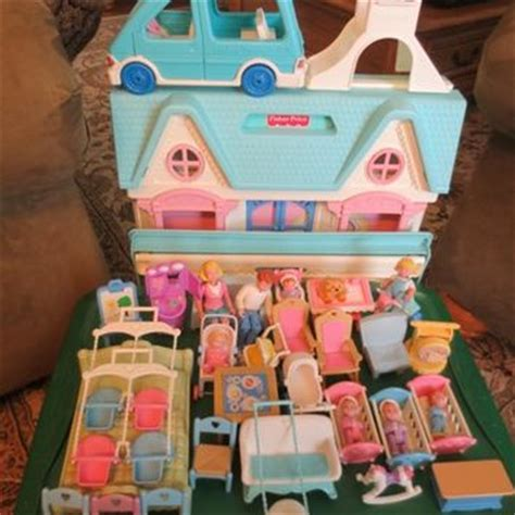 fisher price dolls house 1993 fisher price dream dollhouse doll from evezbeadz on artfire