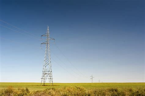 stock photo  high voltage power lines