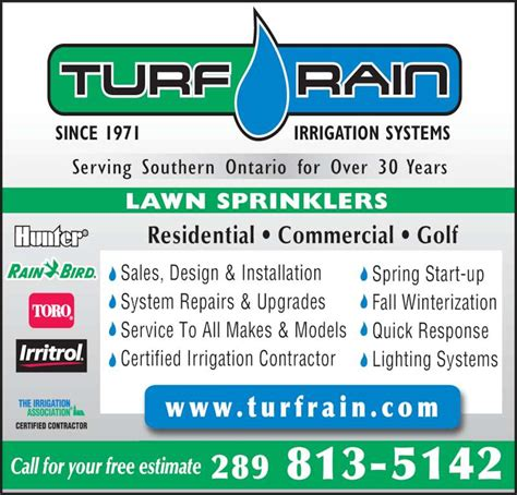 turf rain irrigation mississauga on