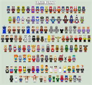 paper pezzy papercraft templates by cyberdrone on deviantart