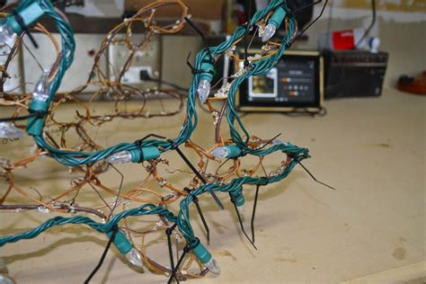 how to rewire an xmas reindeer rewiring reindeer and decorating in the desert az diy