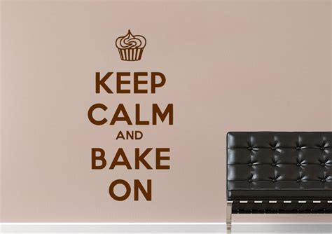 text wall stickers keep calm bake on text quotes wall stickers adhesive wall sticker