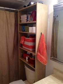 the toilet shelf ikea squeeze in more storage over the toilet with this hack