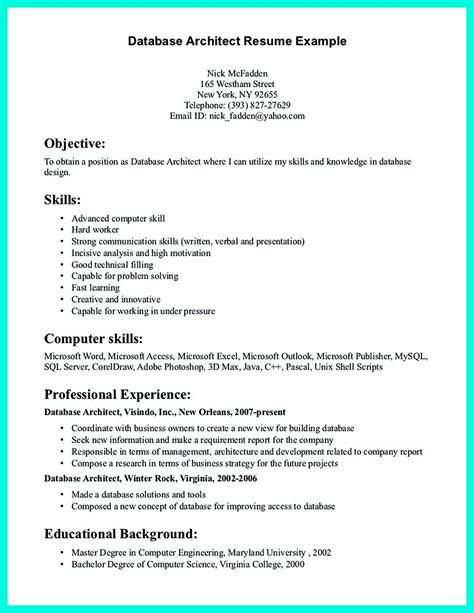 Resume Data Warehouse Architect by In The Data Architect Resume One Must Describe The