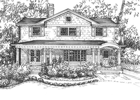 drawing of house house rendering hand drawn in ink home custom home