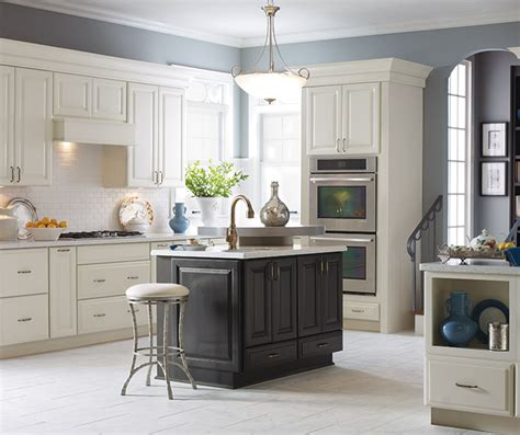 off white cabinets with black kitchen island decora traditional kitchen cabinets with island diamond cabinetry
