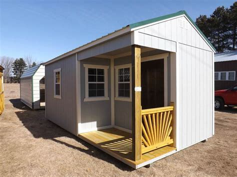 2018 10 x 20 painted utility w side porch pkg in montello