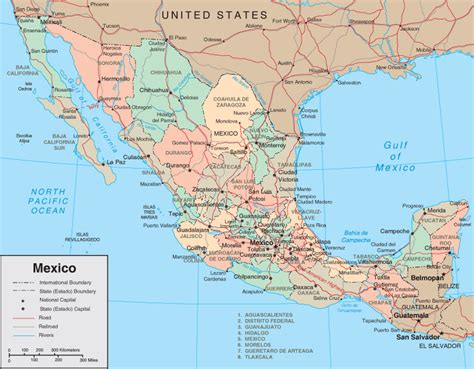map of mexico and cities map of mexico states and major cities mexico map