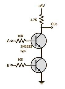 pnp transistor and gate resistor values in transistor logic gates electrical engineering stack exchange