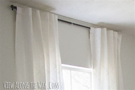 hidden back tab curtains tutorial how to update out dated tab top curtains