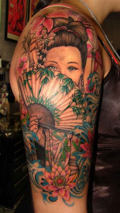 geisha beautiful tattoo beautiful geisha tattoos designs