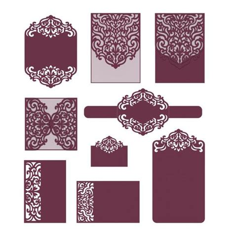 template border card cricut laser cut wedding invitation templates card envelope