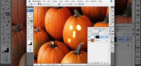 photoshop tutorial jack o lantern how to create a jack o lantern with a pumpkin in photoshop