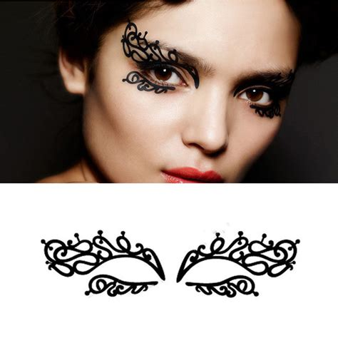 tattoo eyeliner sticker sexy face eyeliner stickers halloween temporary body art