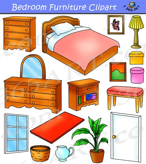 Bedroom Furniture Clipart Bedroom Clipart Home Furniture Graphics Commercial Clipart 4 School