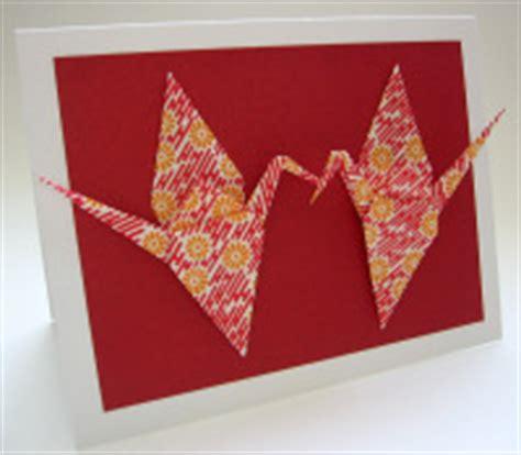 Origami Crane Card - make this easy origami crane card