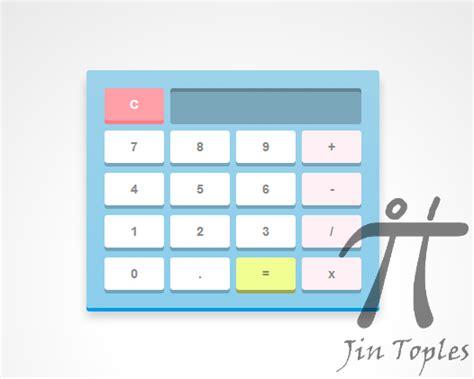 membuat kalkulator html cara membuat kalkulator keren dengan css3 dan javascript
