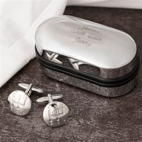 Personalised Gear Stick by Gear Stick Cufflinks In Personalised Box