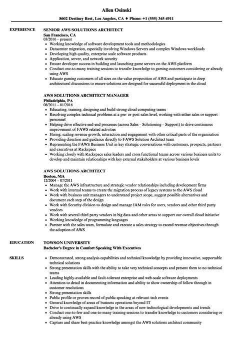 solution architect resumeples templates sap sle