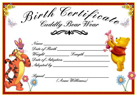boy birth certificate template best photos of birth certificate template printable