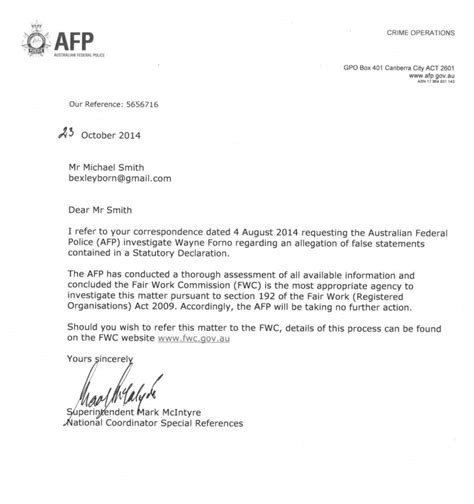 statutory declaration template name change afp responds to our report regarding wayne forno and his