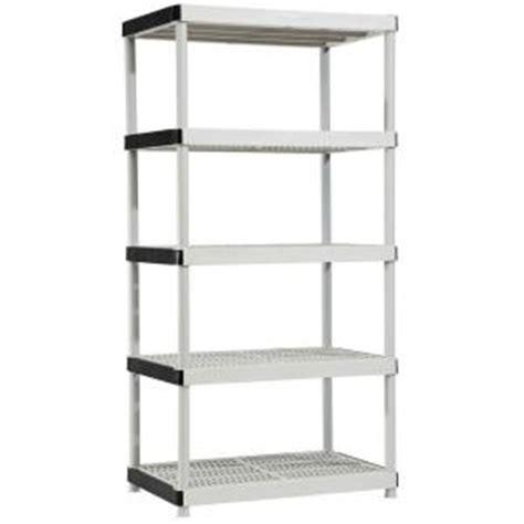 hdx 5 shelf 24 in d x 36 in w x 72 in h plastic