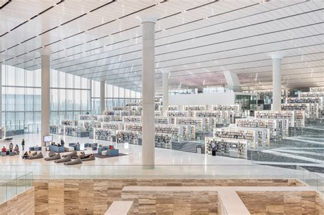 qatar national library oma archello