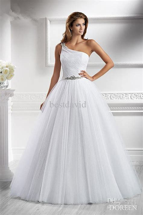 Wedding Dresses Discount Az by Discount Cheap 2013 One Shoulder A Line Wedding Dress