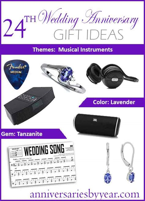 24th anniversary twentyfourth wedding anniversary gift ideas