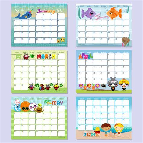 free printable editable calendars 2014 6 best images of hello cuteness free printable calendars