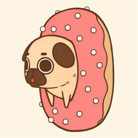 chibi pug donuts before being pug ified adorable donuts after being pug ified so