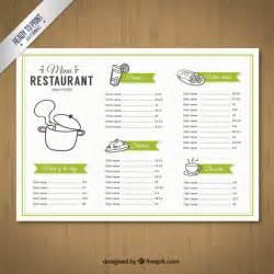 free editable menu templates sketchy menu template vector free
