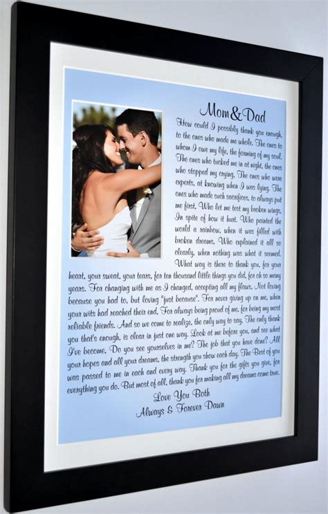 Wedding Parents Gifts by Wedding Gifts For Parents Thank You Parents Of The