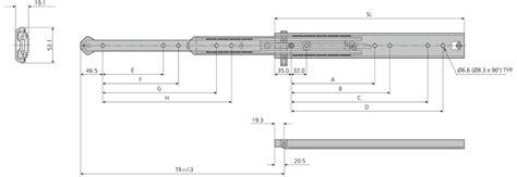 schublade ohne schiene accuride 5344 teleskopschienen begleitschiene f 252 modell