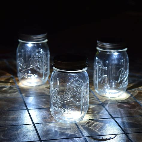 mason jar led lights 3 pack mason jar solar lights silver lids warm soft