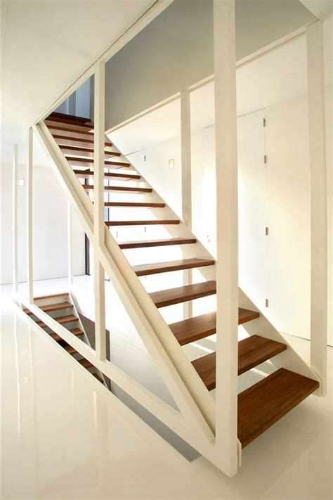 Staircase Design Suspended Stair Design By 123dv In Wood And White Frame