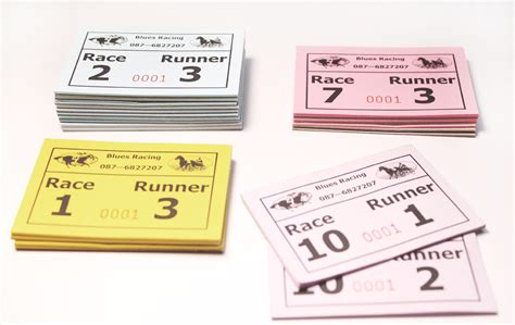 printable race night tickets bespoke printed products nelson press trade printers