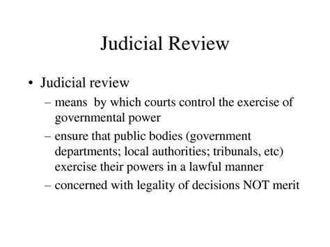 judicial review the united states constitution